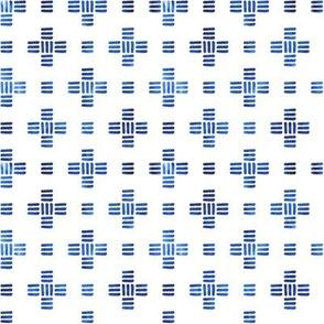 Moderne Swiss Cross in Blue