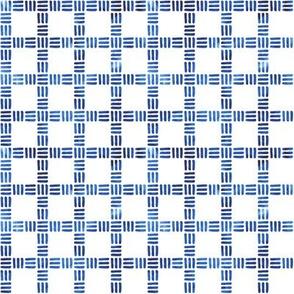 Moderne Windowpane in Blue