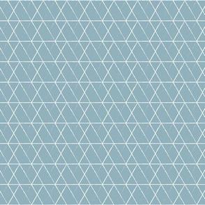 Rabbit Diamond White on Blue