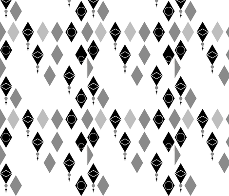 Diamonds fabric by rcmzstudio on Spoonflower - custom fabric