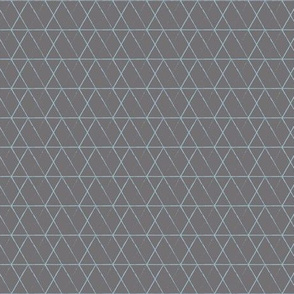 Rabbit Diamond Blue on Grey