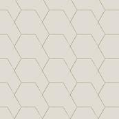 Hex Geometric Gold on Wheat
