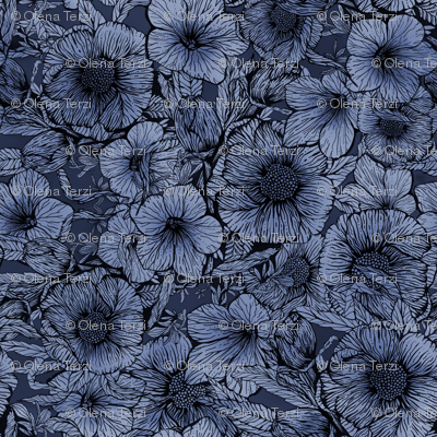 floral pattern 180919-9 by lenaterzi_art