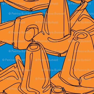 Sea of Cones - Blue and Orange