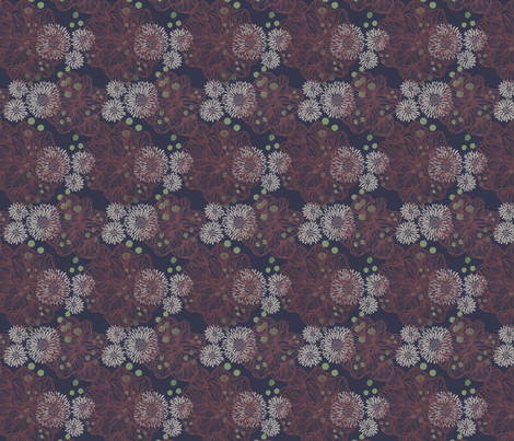 mumsnblooms navy fabric by jordi_lister on Spoonflower - custom fabric