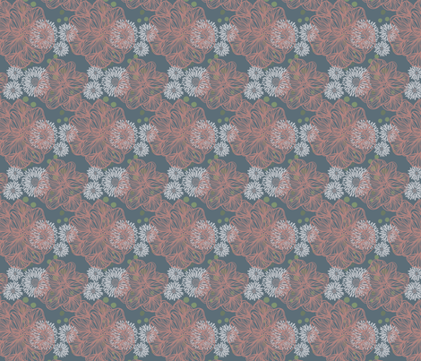 mumsnblooms pink fabric by jordi_lister on Spoonflower - custom fabric