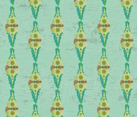 Funny Girl BIT7 Turquoise Sky fabric by tjrobertson on Spoonflower - custom fabric