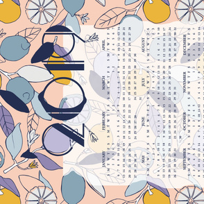 2019 LEMON tea towel calendar