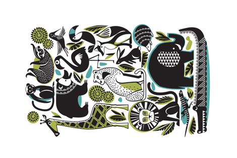 animal favourites fabric by cjldesigns on Spoonflower - custom fabric
