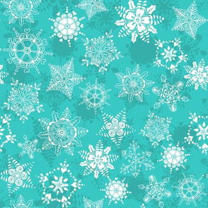 Elegant Holiday Snowflakes-Icy Blue