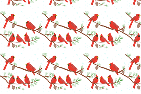 Cardinal Pattern fabric by jackie's_designs on Spoonflower - custom fabric