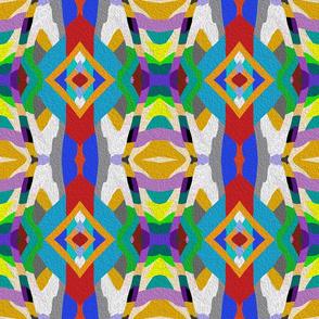 Color geometry shapes ornament