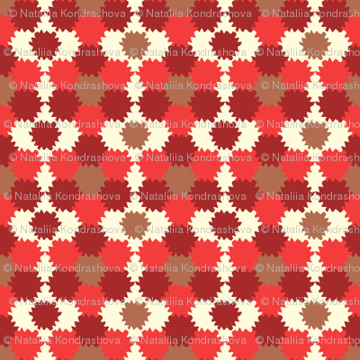 Red and brown geometry ornament
