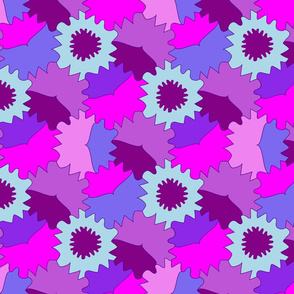 Geometric colorful tessellation