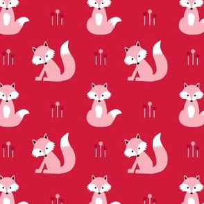 Fox on red