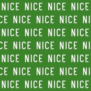 nice - green