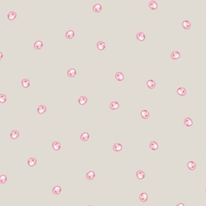 Painted Dots Scatter Wheat Pink