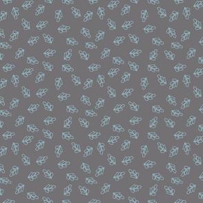 Rabbit Round Leaf Grey Bunny Blue-01