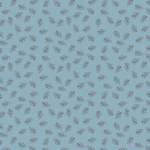 Rabbit Round Leaf Bunny Blue Grey-01