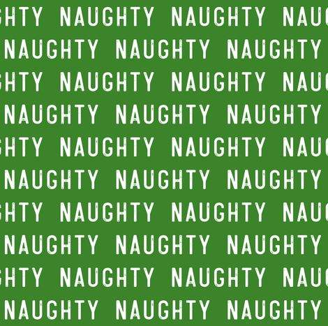 naughty - green fabric by littlearrowdesign on Spoonflower - custom fabric