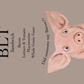 """Bacon?!""  BLT Sandwich Recipe Tea Towel"