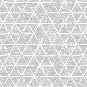 (small scale) textured triangles - woven light grey
