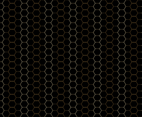 GOLD and black hex tile hexagon tile fabric by jenlats on Spoonflower - custom fabric