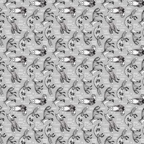 SMALL - fox fabric // woodland forest hand-drawn illustration cute foxes for nursery baby kids prints