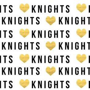 knights - sports fabric - black and gold