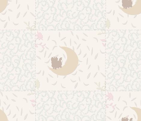 "Pastel Nursery Neutral - Appox 5"" squares fabric by sherry-savannah on Spoonflower - custom fabric"