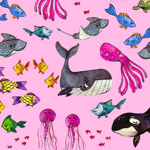 Ocean Pals - Pink Version - Large Scale