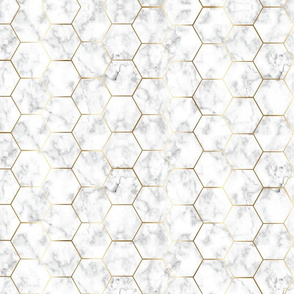 MARBLE GOLD HEXAGON gold hex tile