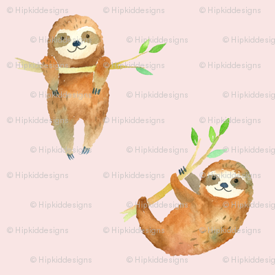 Baby Sloths // Blush