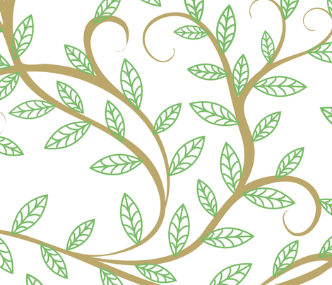 trees fabric by svetlana_prikhnenko on Spoonflower - custom fabric