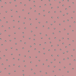 Painted Dots Grey on Vintage Pink