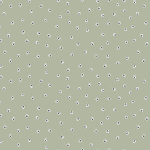 Painted Dots Grey on Vintage Green