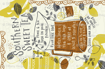 Southern Sweet Tea Recipe Tea Towel