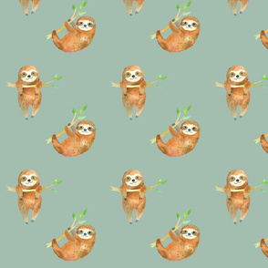 Baby Sloths // Summer Green