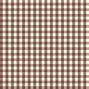 Field Day / mice on mushroom -brown/ gingham