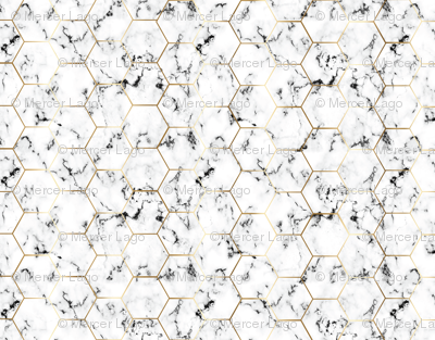 MARBLE black GOLD HEXAGON hex tile black marble
