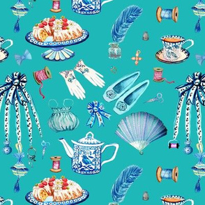 Jane Austens favourite things, teal