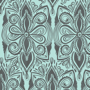 Tapestry - Grey + Mint