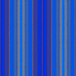 Blue and Brown Crystalized Stripes