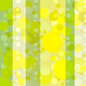 green and yellow stripes and dots