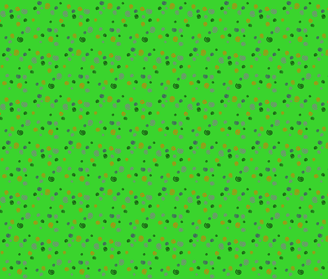 Halloween Spirals Green Small fabric by musicmeister on Spoonflower - custom fabric
