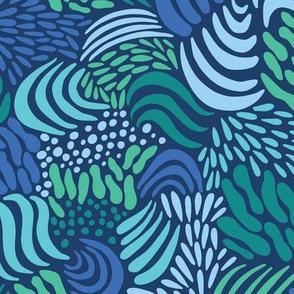 Ocean Waves_Navy Blue