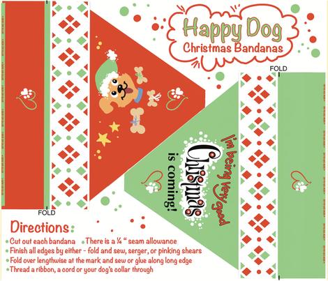 Xmas dog bandanas fabric by stacystudios on Spoonflower - custom fabric