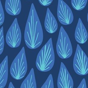 Water Drops_Navy Blue