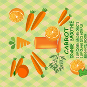 Carrot Orange Smoothie - Tea Towel