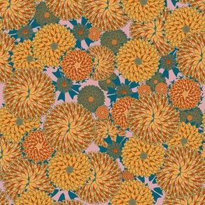 Marigolds in saffron